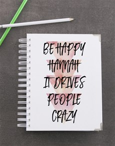 gifts: Personalised Be Happy Goal Journal!