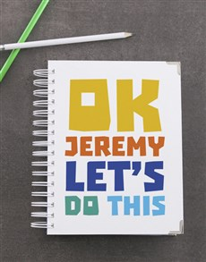 gifts: Personalised Ok Lets Do This Goal Journal!