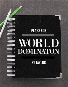 gifts: Personalised World Domination Goal Journal!