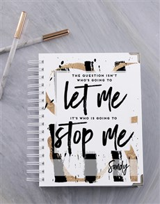 gifts: Personalised Let Me Stop Me Goal Journal!
