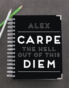 gifts: Personalised Carpe Diem Goal Journal!