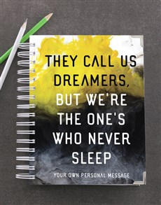 gifts: Personalised They Call Us Dreamers Goal Journal!