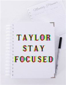 gifts: Personalised Stay Focused Goal Journal!