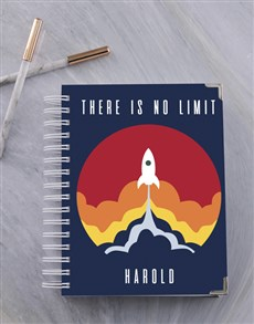 gifts: Personalised No Limit Rocket Goal Journal!