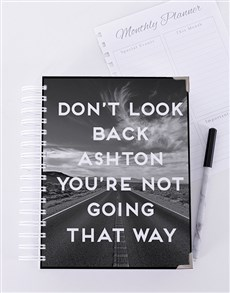 gifts: Personalised Dont Look Back Goal Journal!