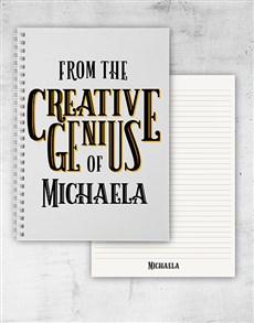 gifts: Personalised Creative Genius Notebook!