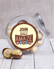 gifts: Personalised Brown Amazeballs Candy Jar!