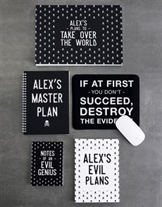 gifts: Personalised Take Over The World Noteset!