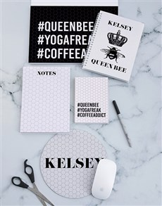 gifts: Personalised Queen Bee Noteset!