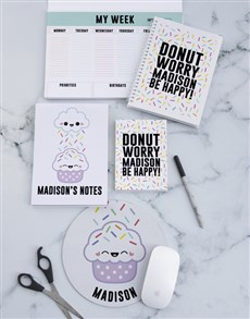 gifts: Personalised Donut Sprinkles Noteset!