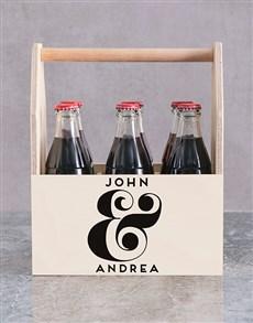 gifts: Personalised Ampersand Printed Beer Crate!