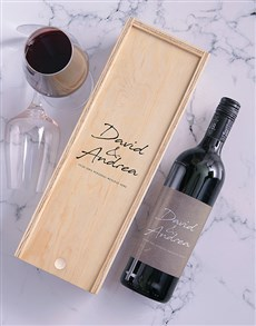 gifts: Personalised Wine Bottle and Crate!