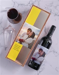 gifts: Personalised Red Wine and Crate!