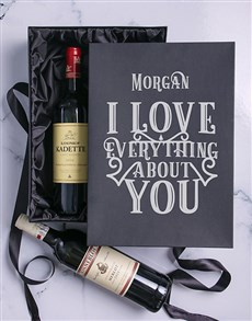 gifts: Personalised Red Wine Box Duo!