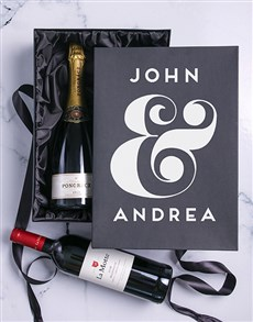 gifts: Personalised Champagne and Millennium Duo!
