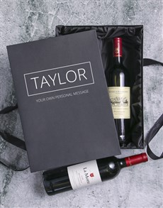 gifts: Personalised Rothschild and Millennium Wine Duo!