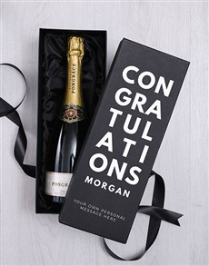 gifts: Personalised Champagne in Celebratory Box!