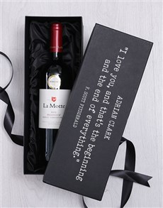 gifts: Personalised Love Quote Luxury Wine Giftbox!