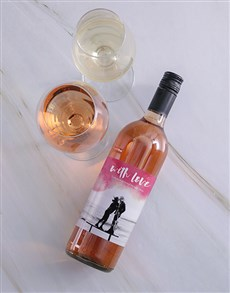gifts: Personalised Message Photo Upload Romantic Wine!