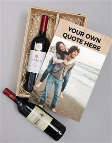 gifts: Personalised Photo Duo Wine Crate!