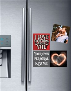 gifts: Personalised Romantic Fridge Magnets!