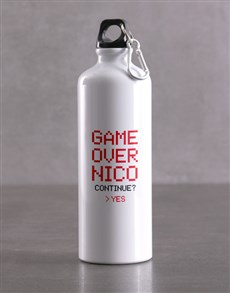 gifts: Personalised Game Over Waterbottle!