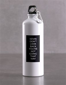 gifts: Personalised Moving Forward Waterbottle!