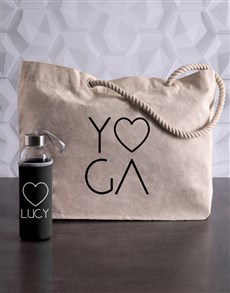 gifts: Personalised Yoga Waterbottle and Tote!