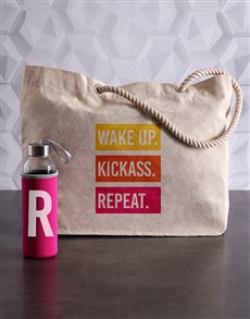 gifts: Personalised Initial Waterbottle and Tote!