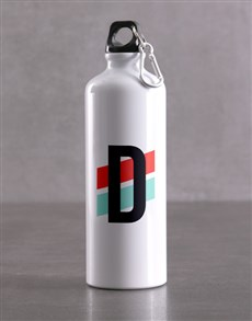 gifts: Personalised Initial Waterbottle!