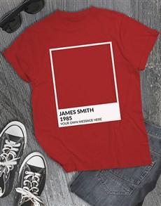 gifts: Personalised Pantone T Shirt!