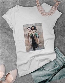 gifts: Personalised Photo Ladies T Shirt!