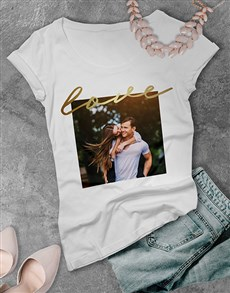 gifts: Personalised Photo Upload Love Ladies T Shirt!