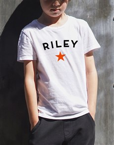 gifts: Personalised Star Name Kids T Shirt!
