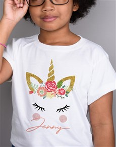 gifts: Personalised Unicorn Kids T Shirt!