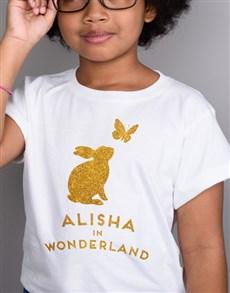 gifts: Personalised Wonderland Kids T Shirt!