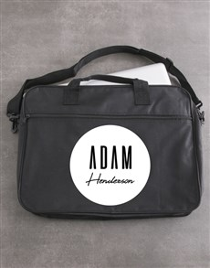 gifts: Personalised Retro Name Laptop Bag!