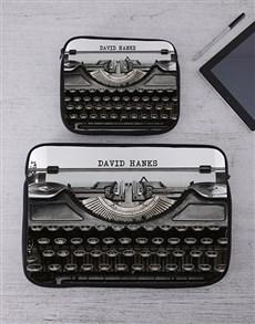 gifts: Personalised Typewriter Tablet or Laptop Sleeve!