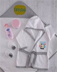 gifts: Personalised Super Baby Spoil Set!