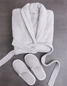 gifts: Personalised Rose Fleece Gown and Slipper Set!