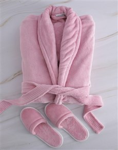 gifts: Personalised Floral Fleece Gown And Slipper Set!