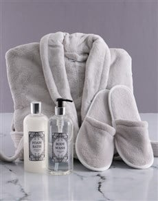 gifts: Personalised Vintage Rose Fleece Gown Gift Set!