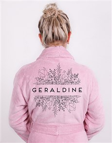 gifts: Personalised Floral Botany Fleece Gown!