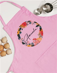 gifts: Personalised Circle Floral Apron!