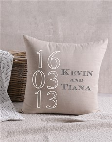 gifts: Personalised Anniversary Scatter Cushion!