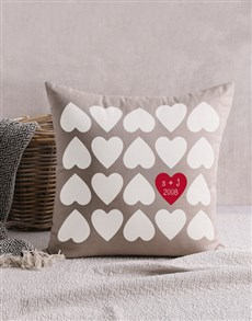 gifts: Personalised Hearts Scatter Cushion!