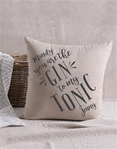gifts: Personalised Gin And Tonic Scatter Cushion!
