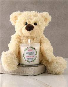 gifts: Personalised Merry Christmas Candle!