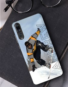 gifts: Personalised Ghost Text Photo Huawei Cover!
