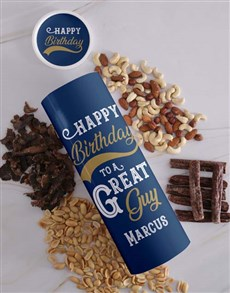 gifts: Personalised Birthday Biltong and Nut Tube!